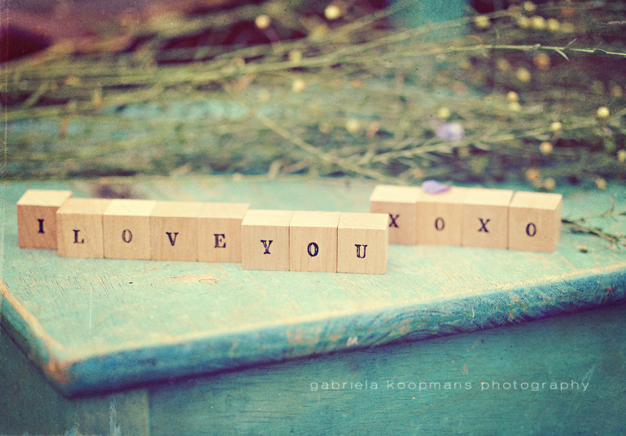 Personalized Wood Blocks I Love You Hugs Kisses Xoxo Letter Blocks