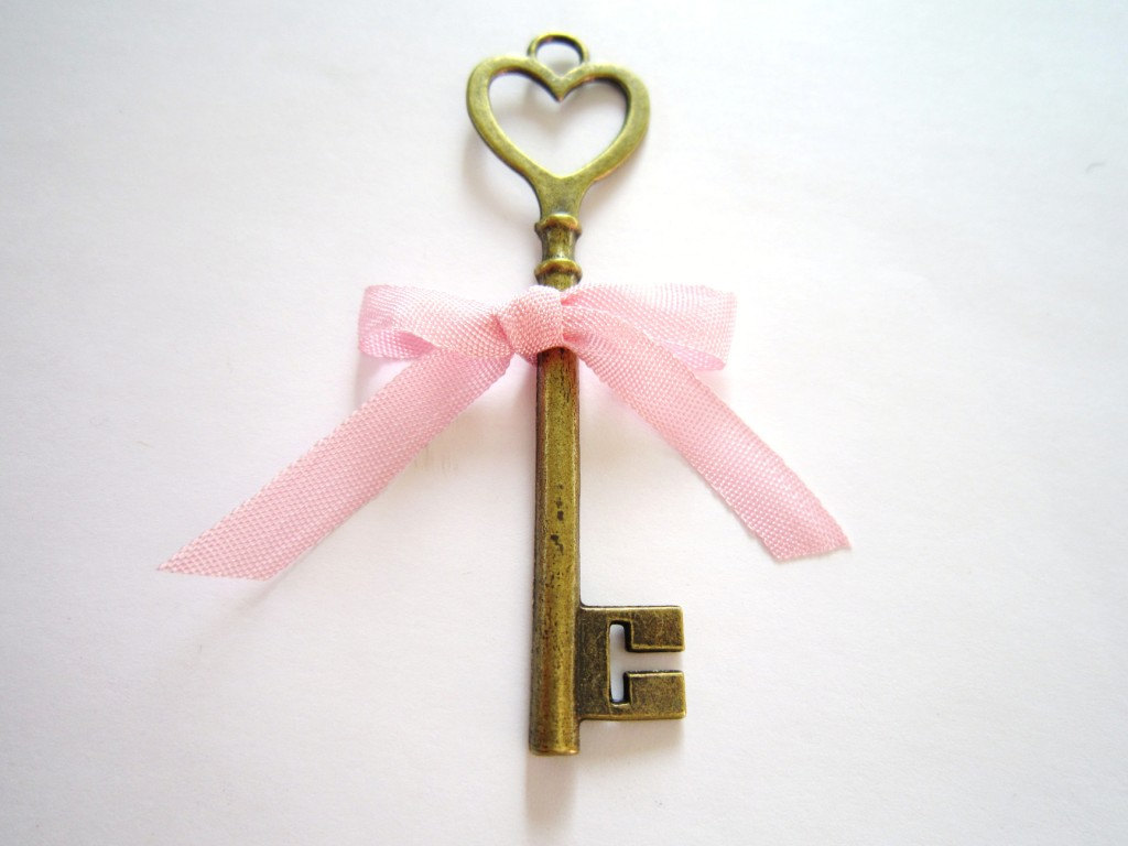 Heart Skeleton Key- Key To My Heart- Large Brass Skeleton Key With ...