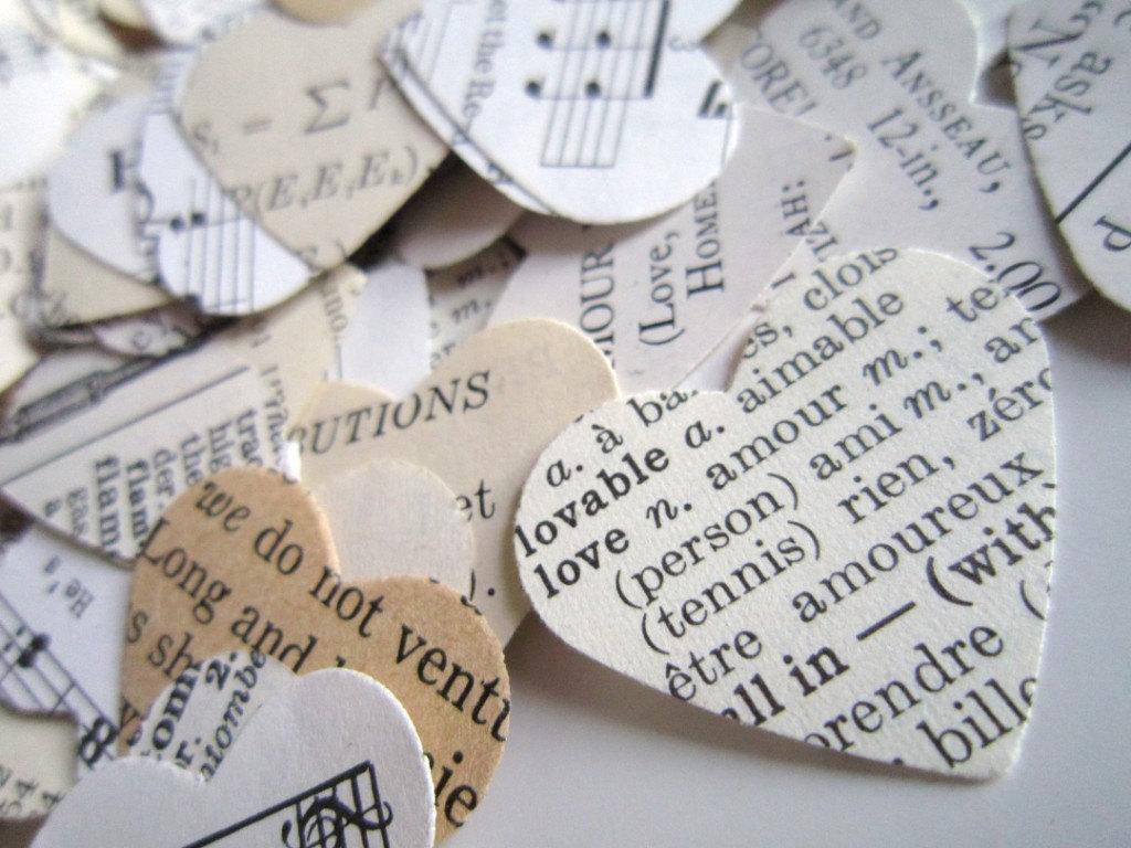 Wedding Confetti Eclectic Paper Hearts 500 Romantic Heart Wedding ...